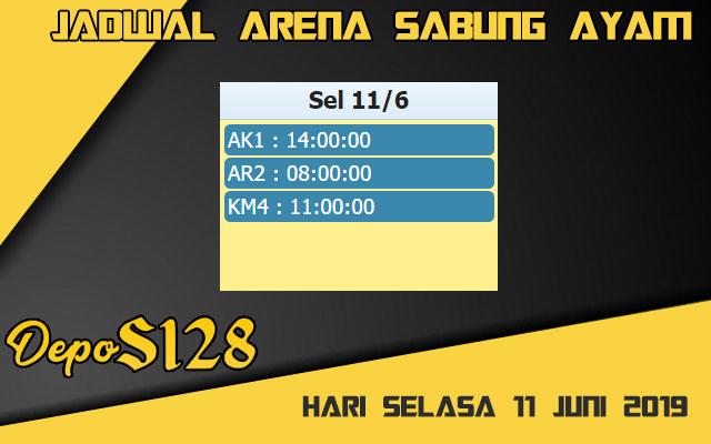Jadwal Arena Sabung Ayam S128 Live Selasa 11 Juni 2019