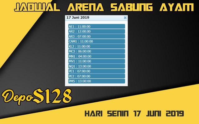Jadwal Arena Sabung Ayam S128 Live Senin 17 Juni 2019
