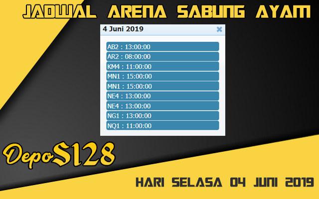 Jadwal Arena Sabung Ayam S128 Online Selasa 04 Juni 2019