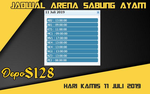 Jadwal Arena Sabung Ayam S128 Online Kamis 11 Juli 2019