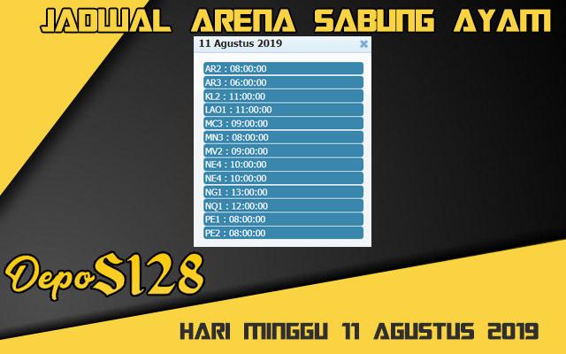 Jadwal Arena Sabung Ayam S128 Live Minggu 11 Agustus 2019
