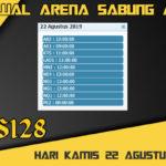 Jadwal Arena Sabung Ayam S128 Online Kamis 22 Agustus 2019