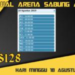 Jadwal Arena Sabung Ayam S128 Online Minggu 18 Agustus 2019