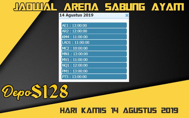 Jadwal Arena Sabung Ayam S128 Online Rabu 14 Agustus 2019