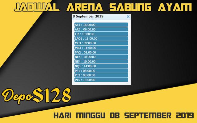 Jadwal Arena Sabung Ayam S128 Live Minggu 08 September 2019
