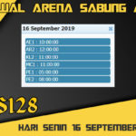 Jadwal Arena Sabung Ayam S128 Live Senin 16 September 2019