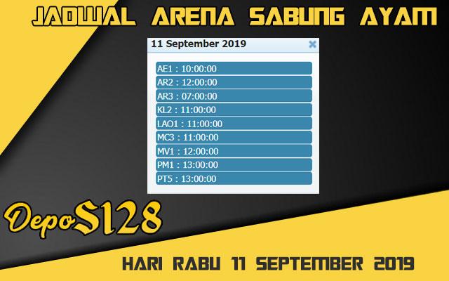Jadwal Arena Sabung Ayam S128 Online Rabu 11 September 2019