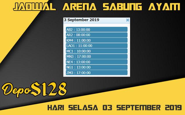 Jadwal Arena Sabung Ayam S128 Online Selasa 03 September 2019