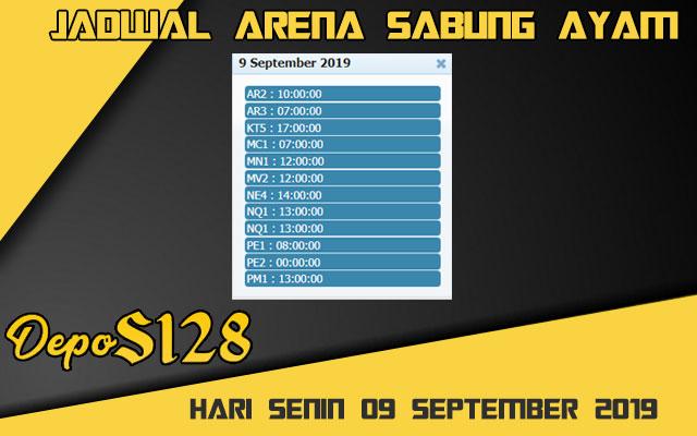Jadwal Arena Sabung Ayam S128 Online Senin 09 September 2019