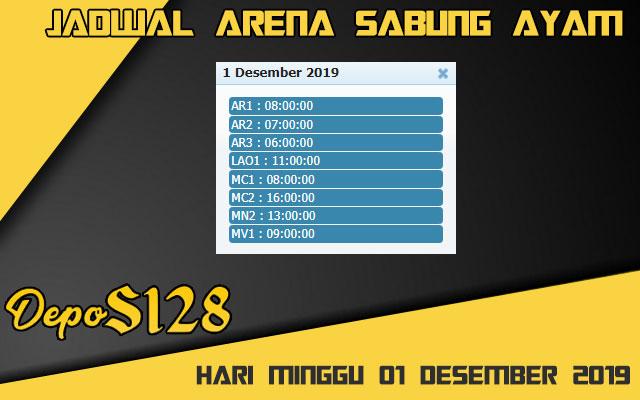 Jadwal Arena Sabung Ayam S128 Live Minggu 01 Desember 2019