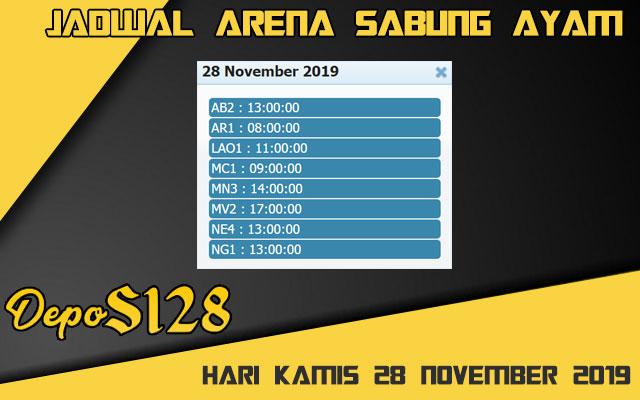 Jadwal Arena Sabung Ayam S128 Online Kamis 28 November 2019