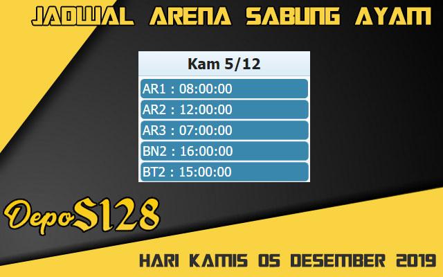 Jadwal Arena Sabung Ayam S128 Live Kamis 05 Desember 2019