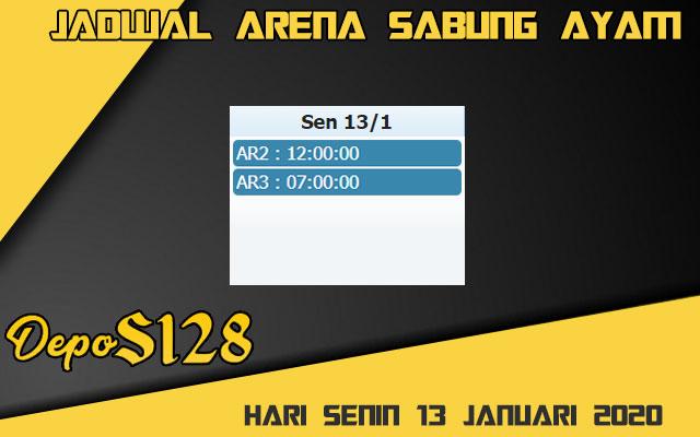 Jadwal Arena Sabung Ayam S128 Online Senin 13 Januari 2020