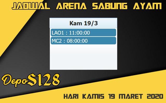 Jadwal Arena Sabung Ayam S128 Online Kamis 19 Maret 2020