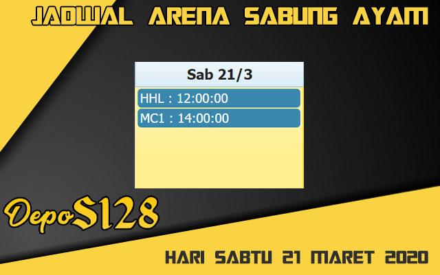 Jadwal Arena Sabung Ayam S128 Online Sabtu 21 Maret 2020