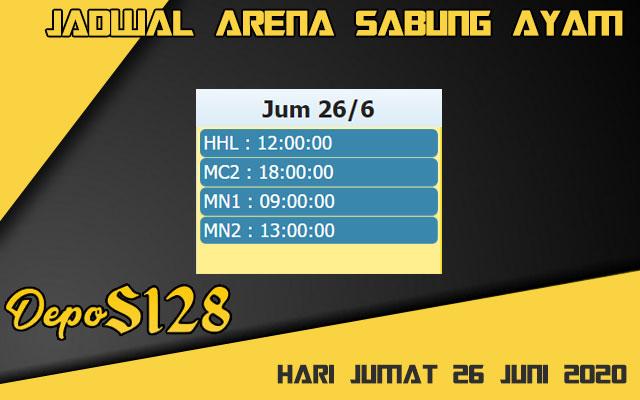 Jadwal Arena S128 Sabung Ayam Live Jumat 26 Juni 2020