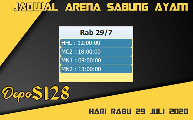 Jadwal Arena S128 Sabung Ayam Online Rabu 29 Juli 2020