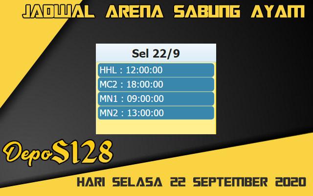 Jadwal Arena S128 Sabung Ayam Live Selasa 22 September 2020