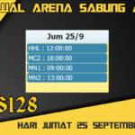 Jadwal Arena S128 Sabung Ayam Online Jumat 25 September 2020
