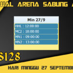 Jadwal Arena S128 Sabung Ayam Online Minggu 27 September 2020