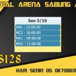 Jadwal Arena S128 Sabung Ayam Online Senin 05 Oktober 2020