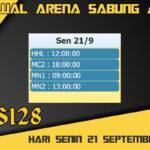 Jadwal Arena S128 Sabung Ayam Online Senin 21 September 2020