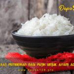 Manfaat Pemberian Nasi Putih Untuk Ayam Aduan