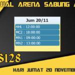 Jadwal Arena S128 Sabung Ayam Online Jumat 20 November 2020