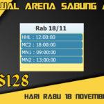 Jadwal Arena S128 Sabung Ayam Online Rabu 18 November 2020