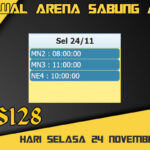 Jadwal Arena S128 Sabung Ayam Online Selasa 24 November 2020