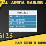 Jadwal Arena S128 Sabung Ayam Live Senin 11 Januari 2021