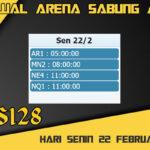 Jadwal Arena S128 Sabung Ayam Live Senin 22 Februari 2021