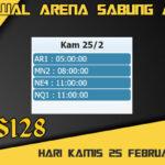 Jadwal Arena S128 Sabung Ayam Online Kamis 25 Februari 2021