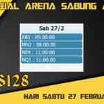 Jadwal Arena S128 Sabung Ayam Online Sabtu 27 Februari 2021