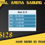 Jadwal Arena S128 Sabung Ayam Online Senin 01 Maret 2021
