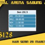 Jadwal Arena S128 Sabung Ayam Online Senin 29 Maret 2021